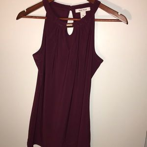 New WHBM maroon or deep purple top